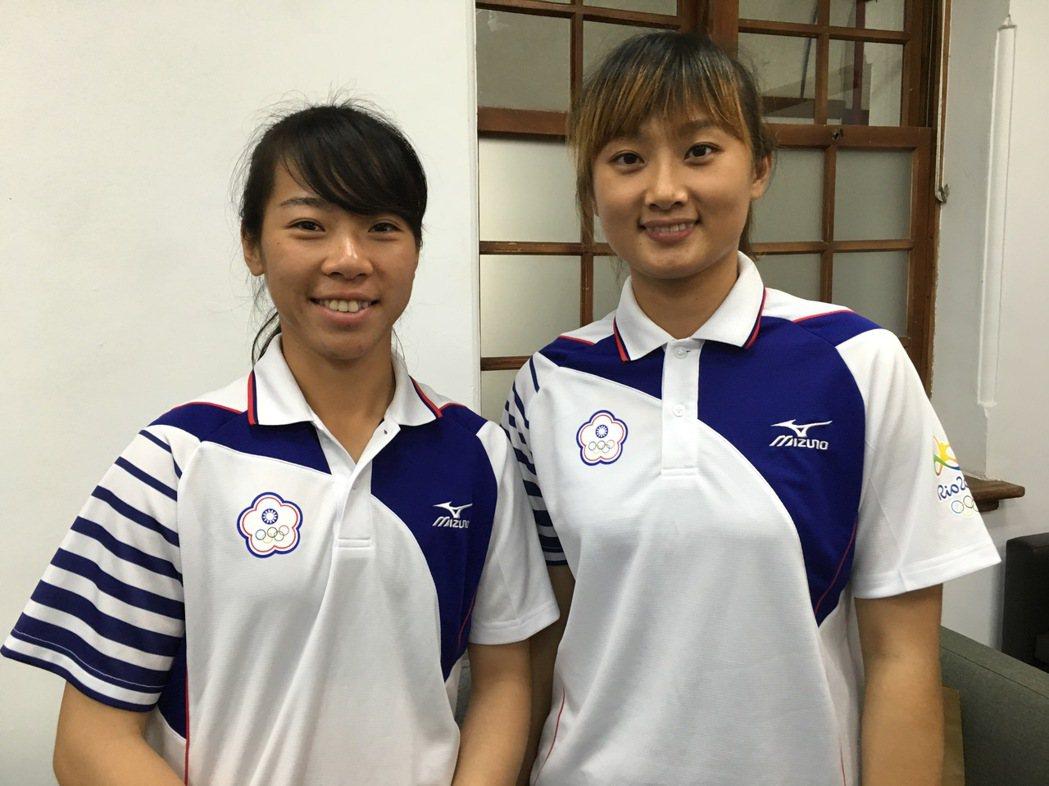 射箭國手譚雅婷(左)、林詩嘉(右)。記者蔡昕穎/攝影(資料照)