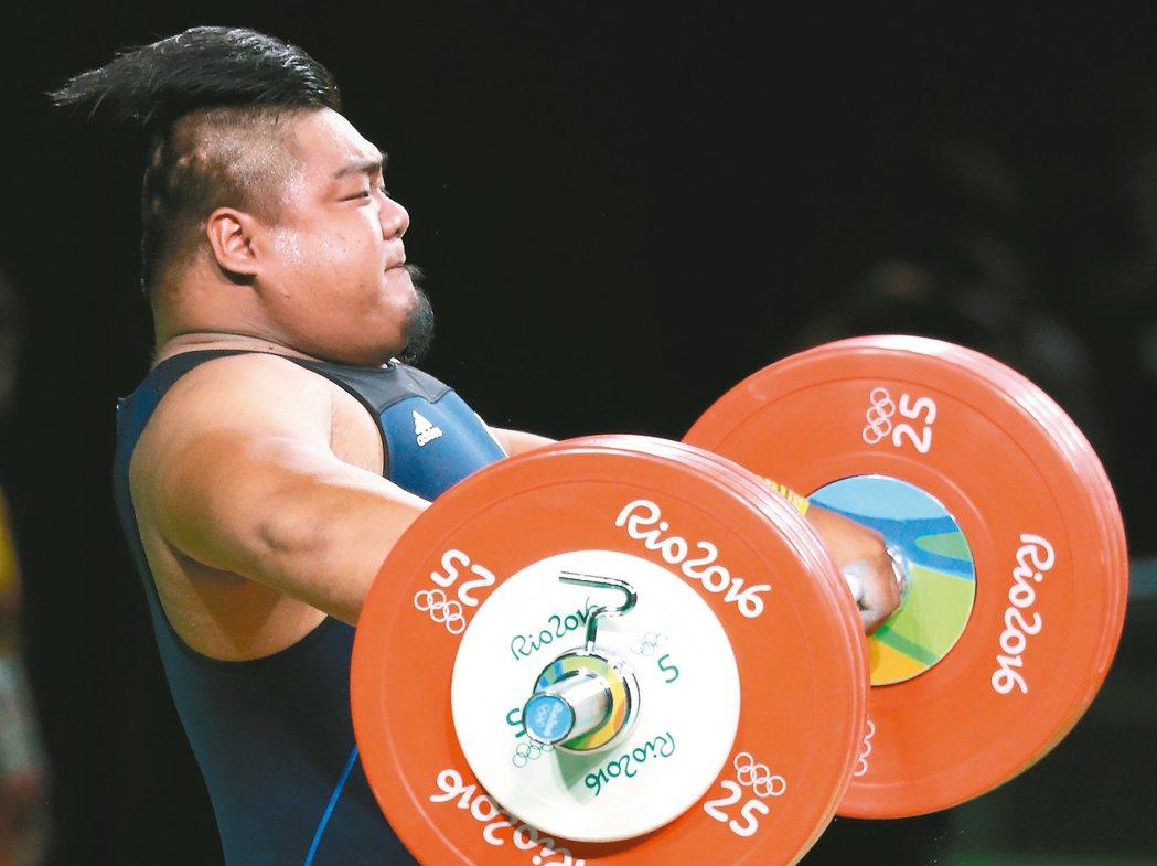 里約奧運舉重,中華隊陳士杰出賽。 特派記者陳正興/攝影