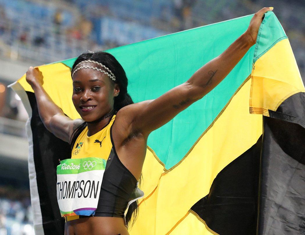 牙買加短跑女將湯普森在女子200公尺以21秒78奪金。 美聯社