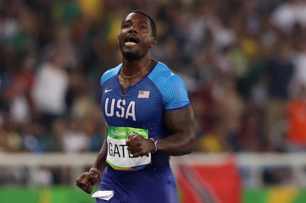 美國選手蓋特林在200公尺複賽爆冷出局。 美聯社