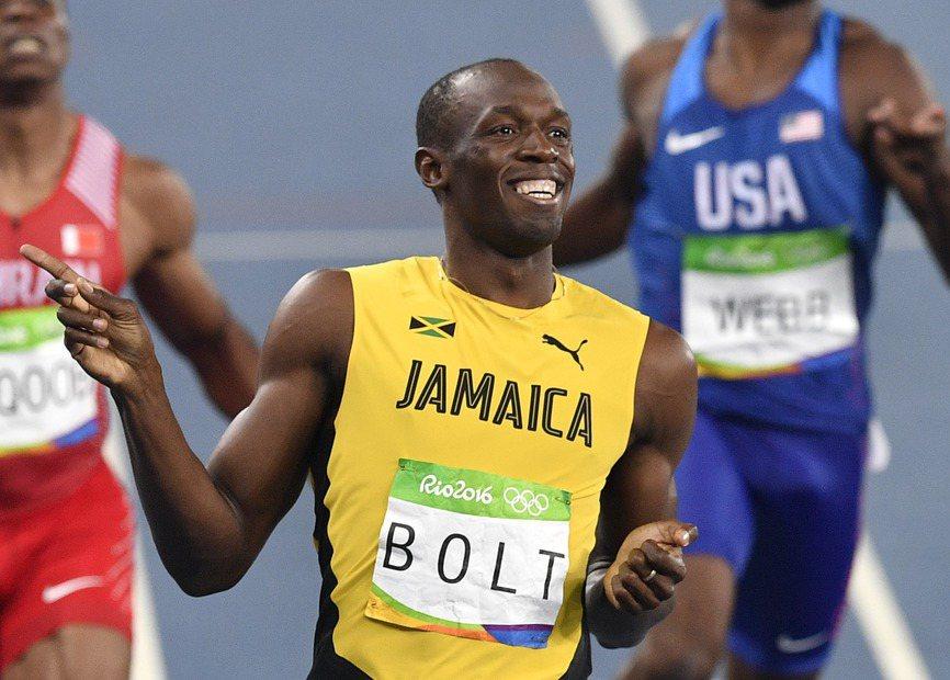 牙買加短跑名將柏特輕鬆闖進田徑男子200公尺決賽。 美聯社