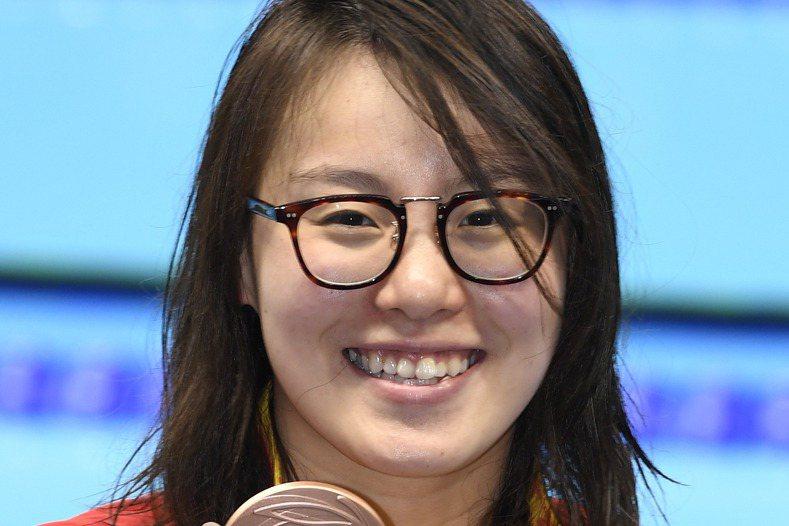 傅園慧獲里約奧運泳賽銅牌。【作者:魏碧洲  檔名:L249317...