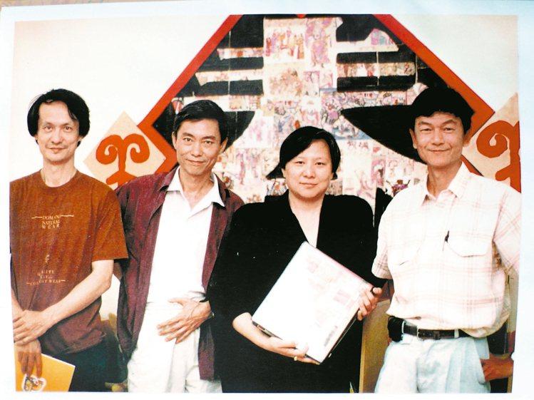 漢聲四俠:黃永松(左起)、奚淞、吳美雲、姚孟嘉。