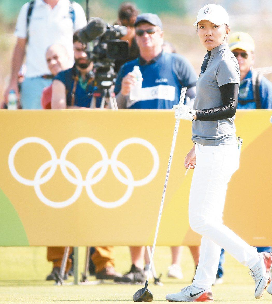 里約奧運女子高球賽,盧曉晴在第二輪表現不錯。 特派記者陳正興/攝影