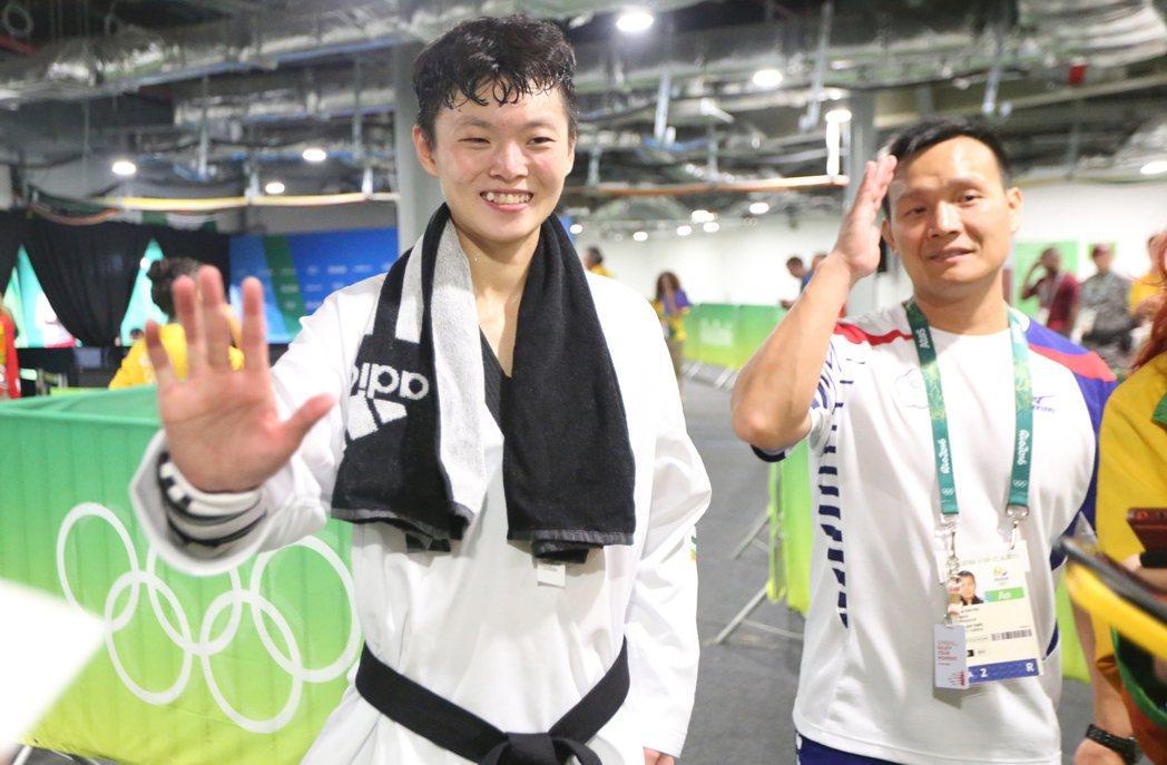 雖然結果不是最好,但莊佳佳相當享受首次登上奧運舞台過程。 特派記者/陳正興攝影