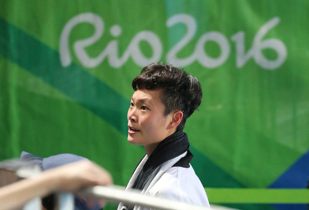 里約奧運跆拳道女子67公斤級賽事下午舉行,我國選手莊佳佳在8強賽中,出戰南韓的吳...