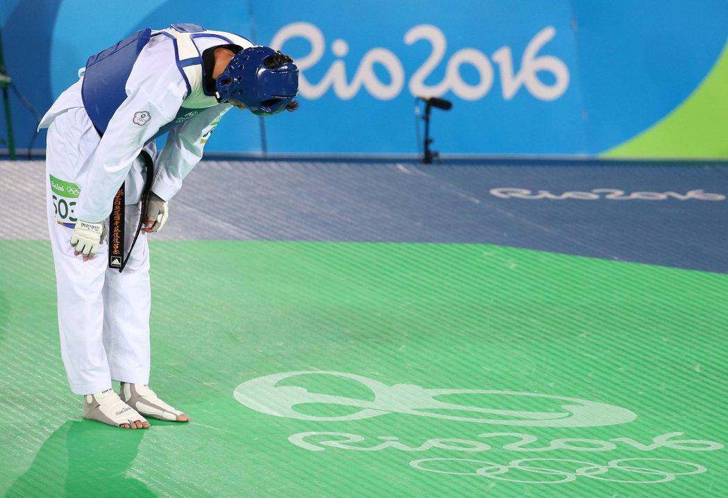 里約奧運67公斤級銅牌戰晚上舉行,中華隊跆拳道好手莊佳佳(圖)出戰土耳其的塔塔爾...