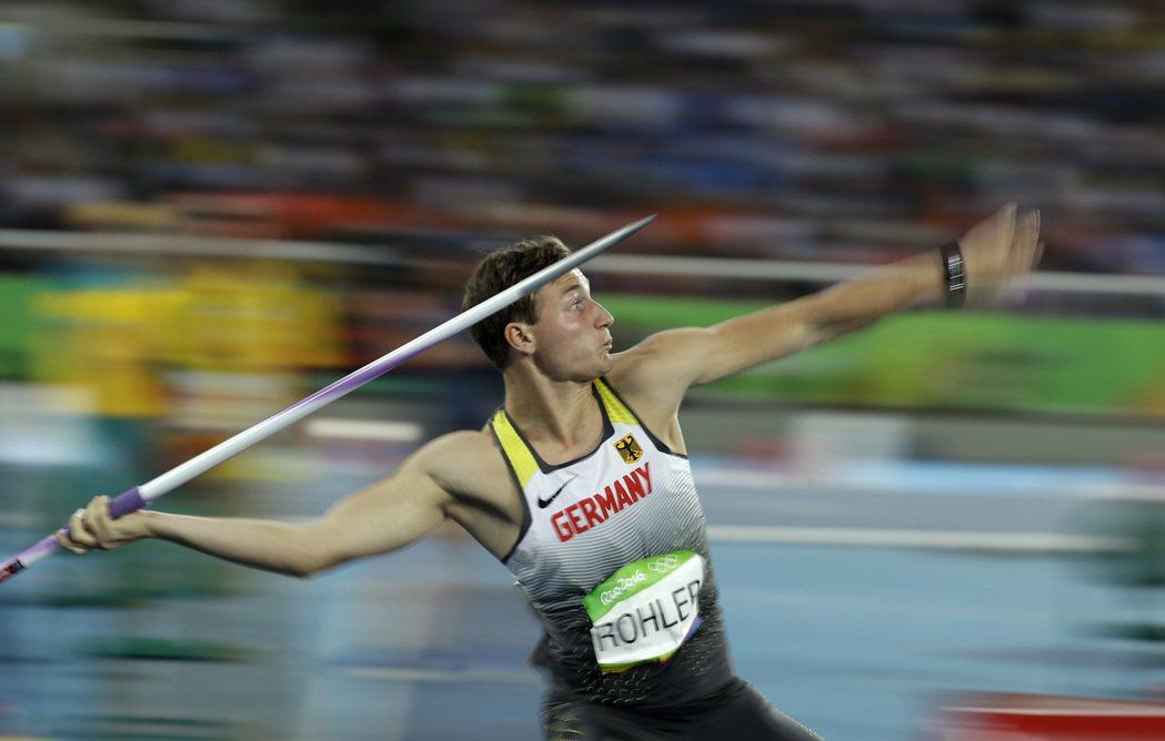 德國24歲田徑選手羅哈勒。 美聯社