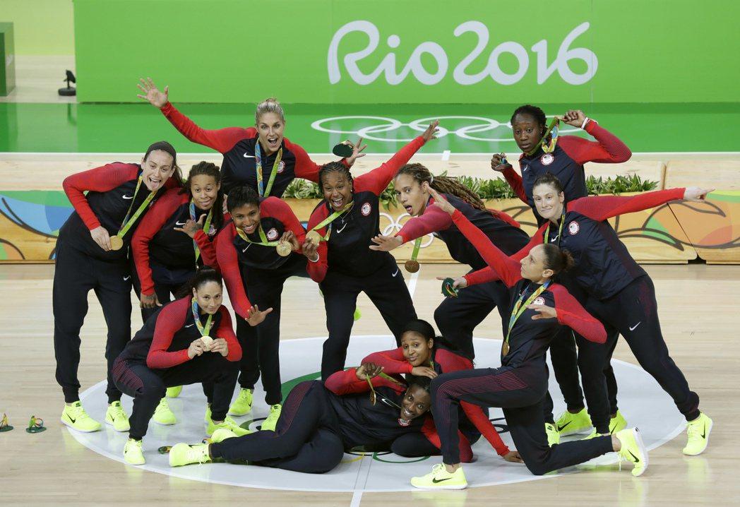 美國女籃奧運6連霸。 美聯社