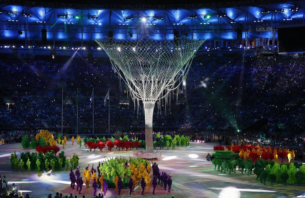 奧運閉幕式。 美聯社