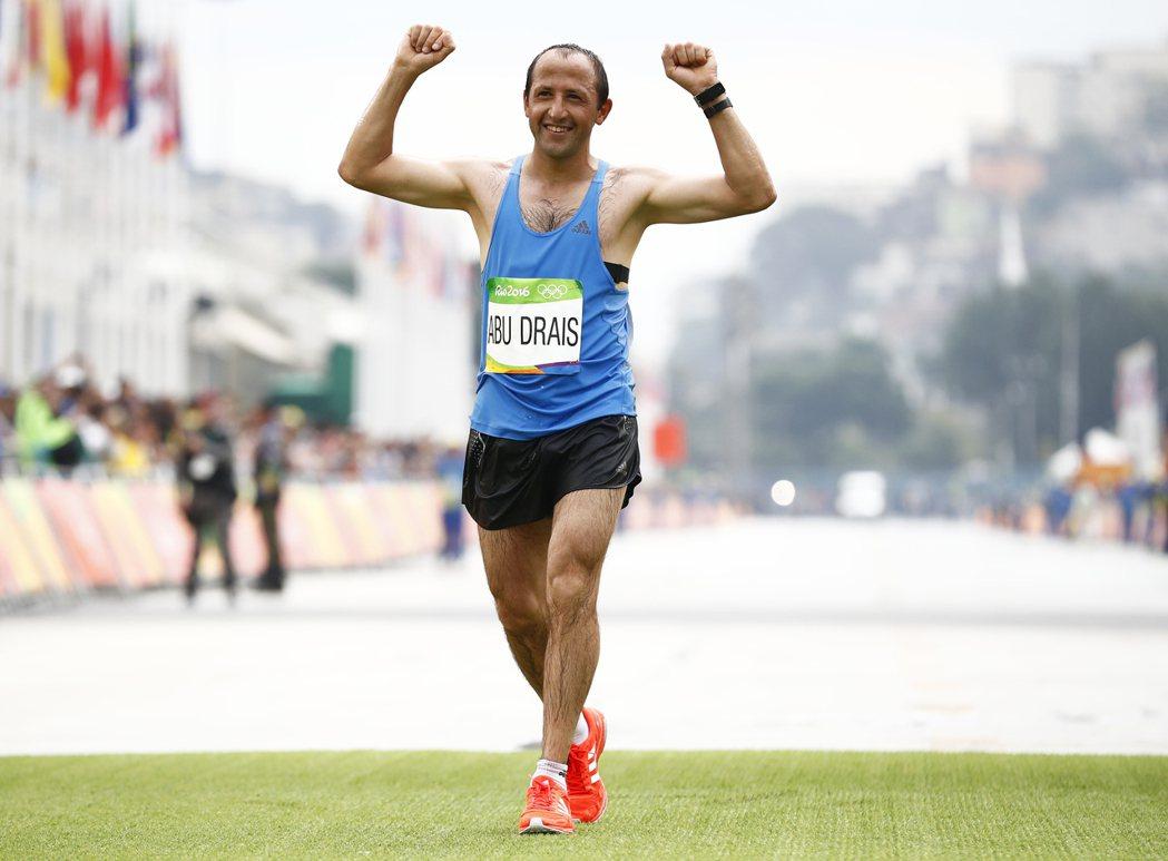 約旦的杜拉瑞斯在馬拉松以最後一名完賽。 歐新社