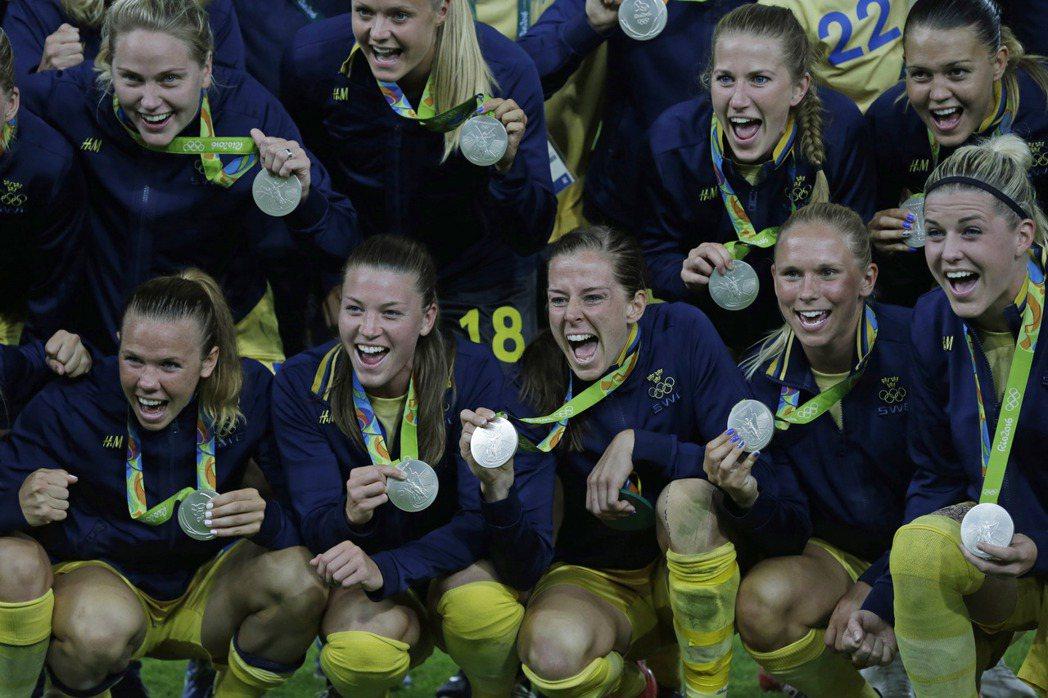 瑞典女足。 美聯社