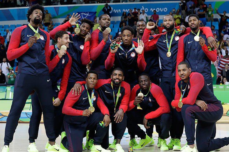 美國男籃在本屆奧運雖然險象環生,但最終還是不負眾望拿下金牌。 美聯社