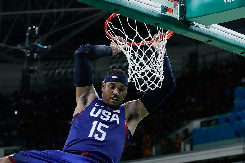 安東尼身為美國男籃「四朝元老」,球員需要他的時候總是會挺身而出! 美聯社
