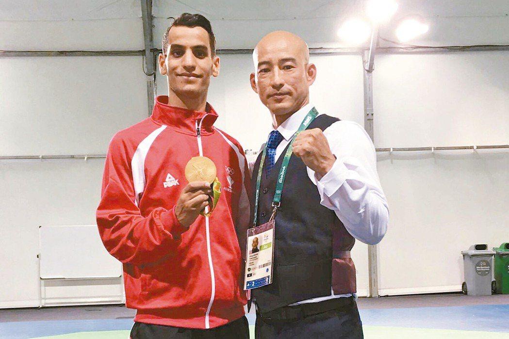 張文賓(右)帶出約旦首面奧運金牌。 圖/張文賓提供