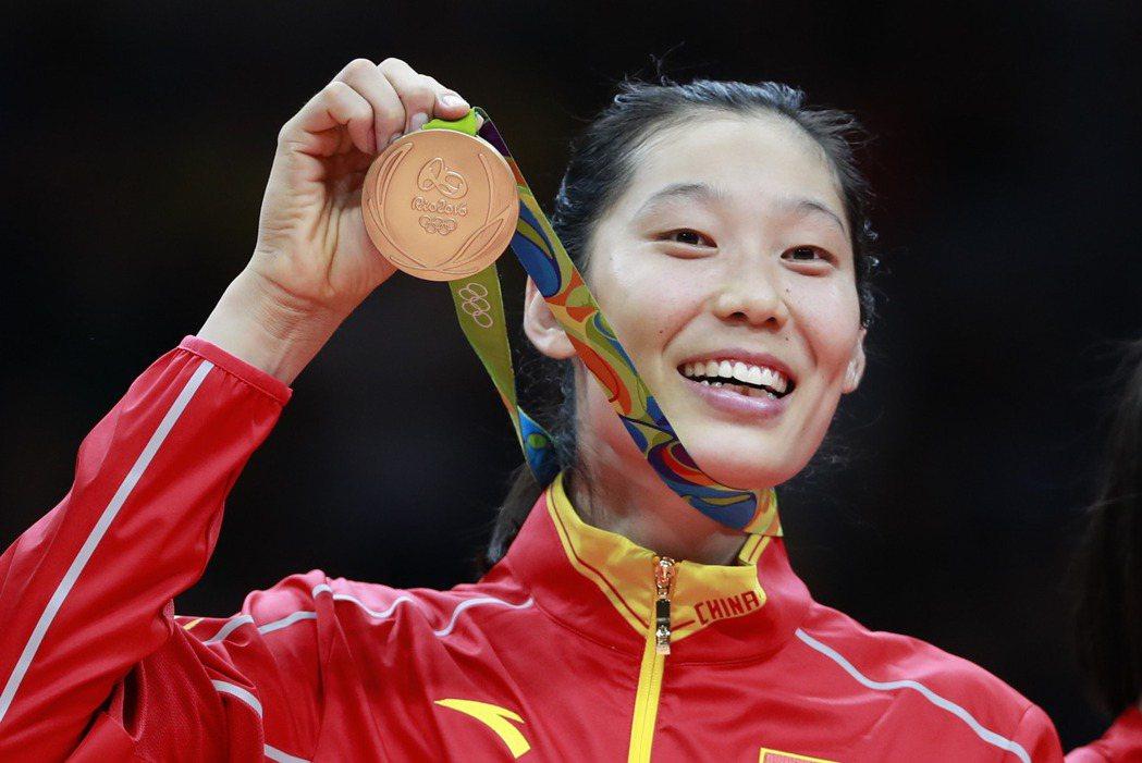 大陸女排選手朱婷。 新華社