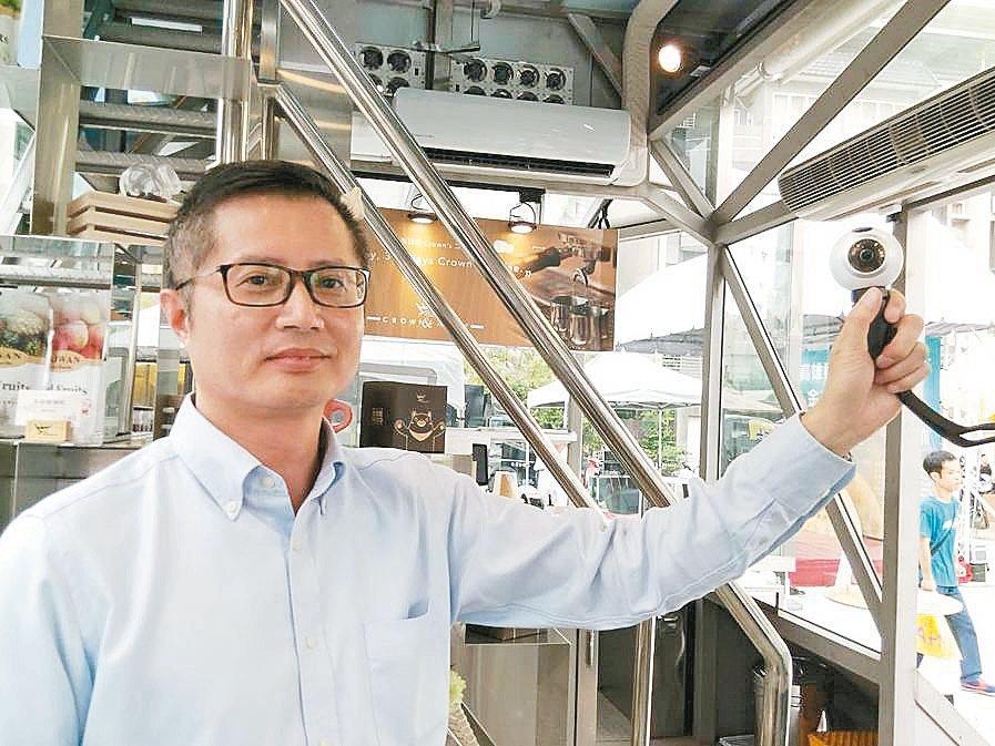 燦坤董事長閻俊傑。 記者張義宮/攝影