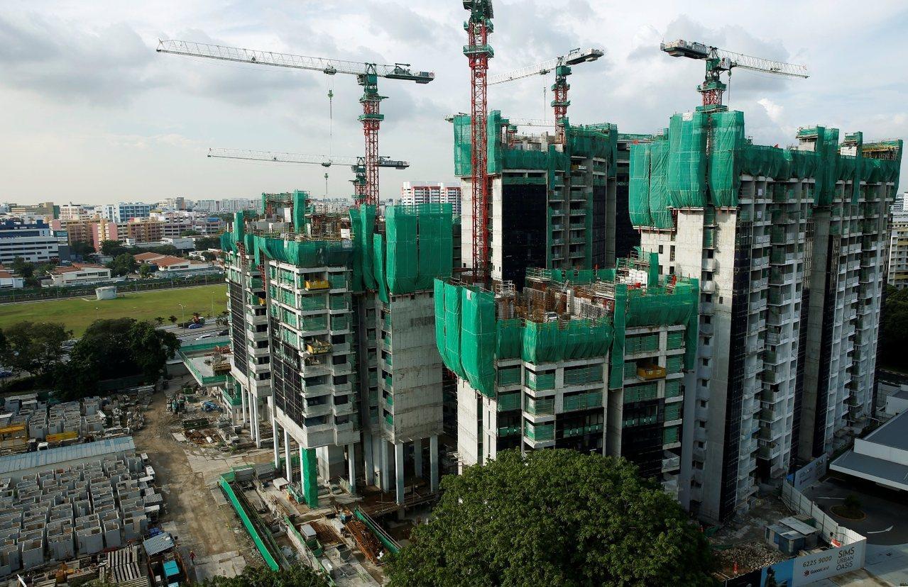 爆发兹卡疫情的新加坡建筑工地,位于位于沈氏通道上。 图/路透社