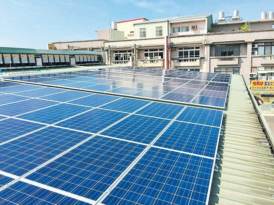太陽能市況差,報價大跌,業者擴大減產幅度,本季業績不樂觀。圖為太陽能發電系統。 ...