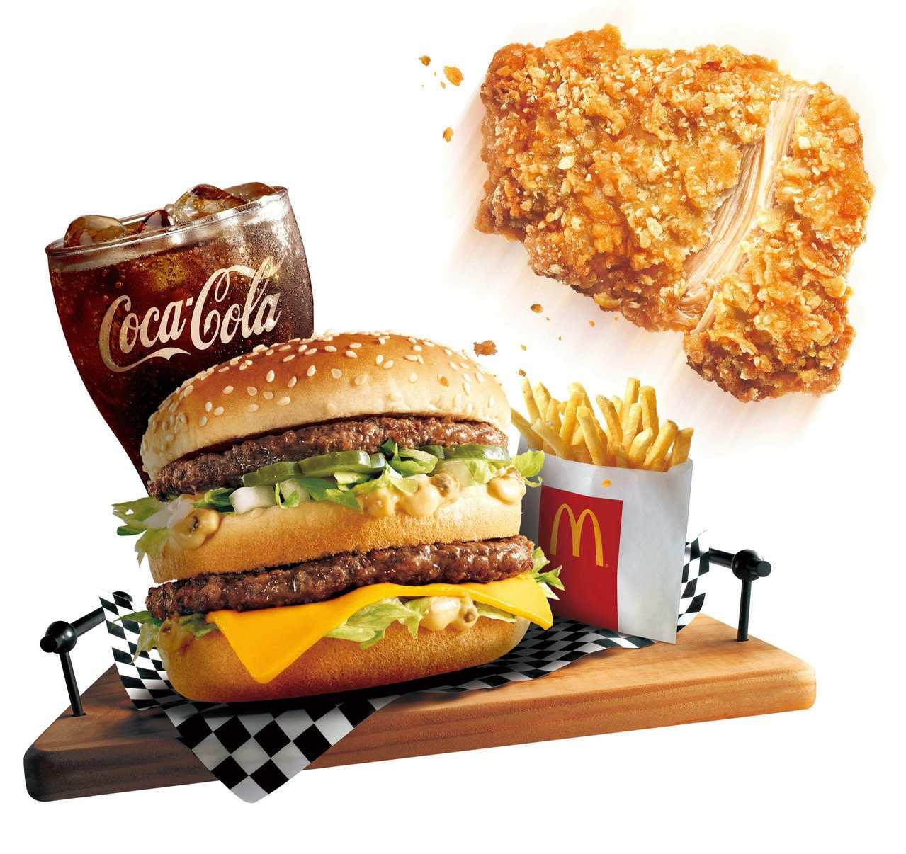 台灣麥當勞明(7)日起至27日,推出四款「豪麥雙拼套餐」。經典大麥克搭配外酥內嫩...
