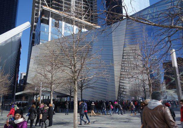 911紀念博物館的玻璃帷幕外牆 圖片提供╱遠見