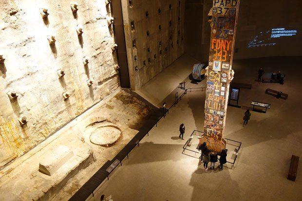 世貿大樓的連續壁及「最後的立柱」。 圖片提供╱遠見