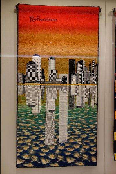 一幅名為「Reflections」的紀念創作 圖片提供╱遠見