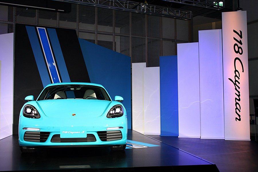 全新 718 Cayman。(此為S車型,建議售價為 353 萬起) 記者林和謙...