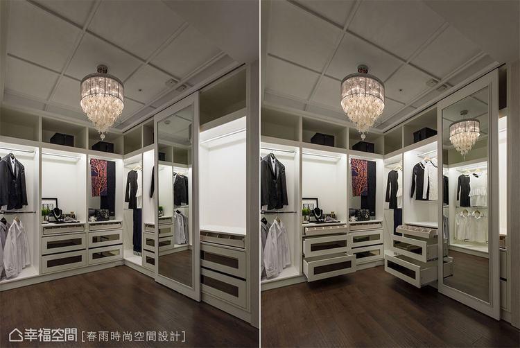 ▲鏡片與門片結合,可以有效利用空間。