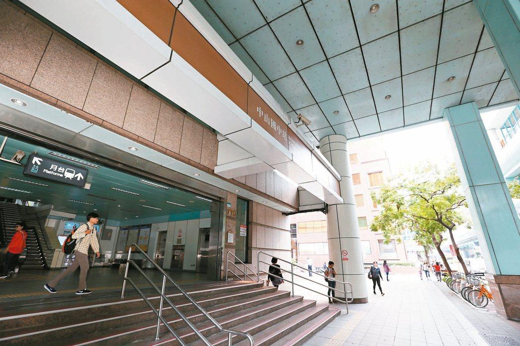 捷運中山國中站周邊屬於「民生重劃區」,在台北市政府公布的安心地圖數據中屬少見的「...