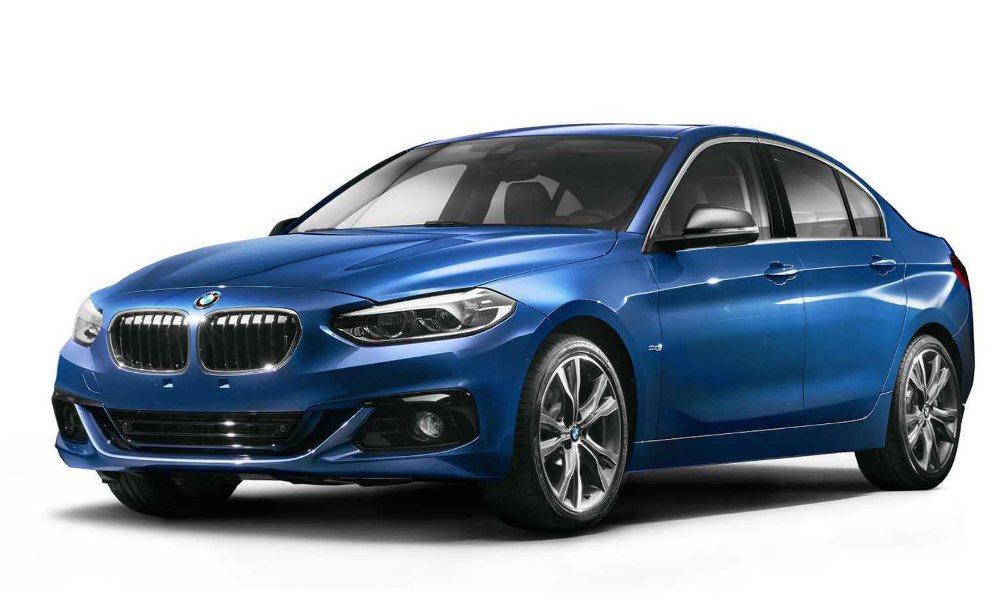 中國市場限定的 BMW 1-Series Sedan 車頭處與 2 系列略為相似...