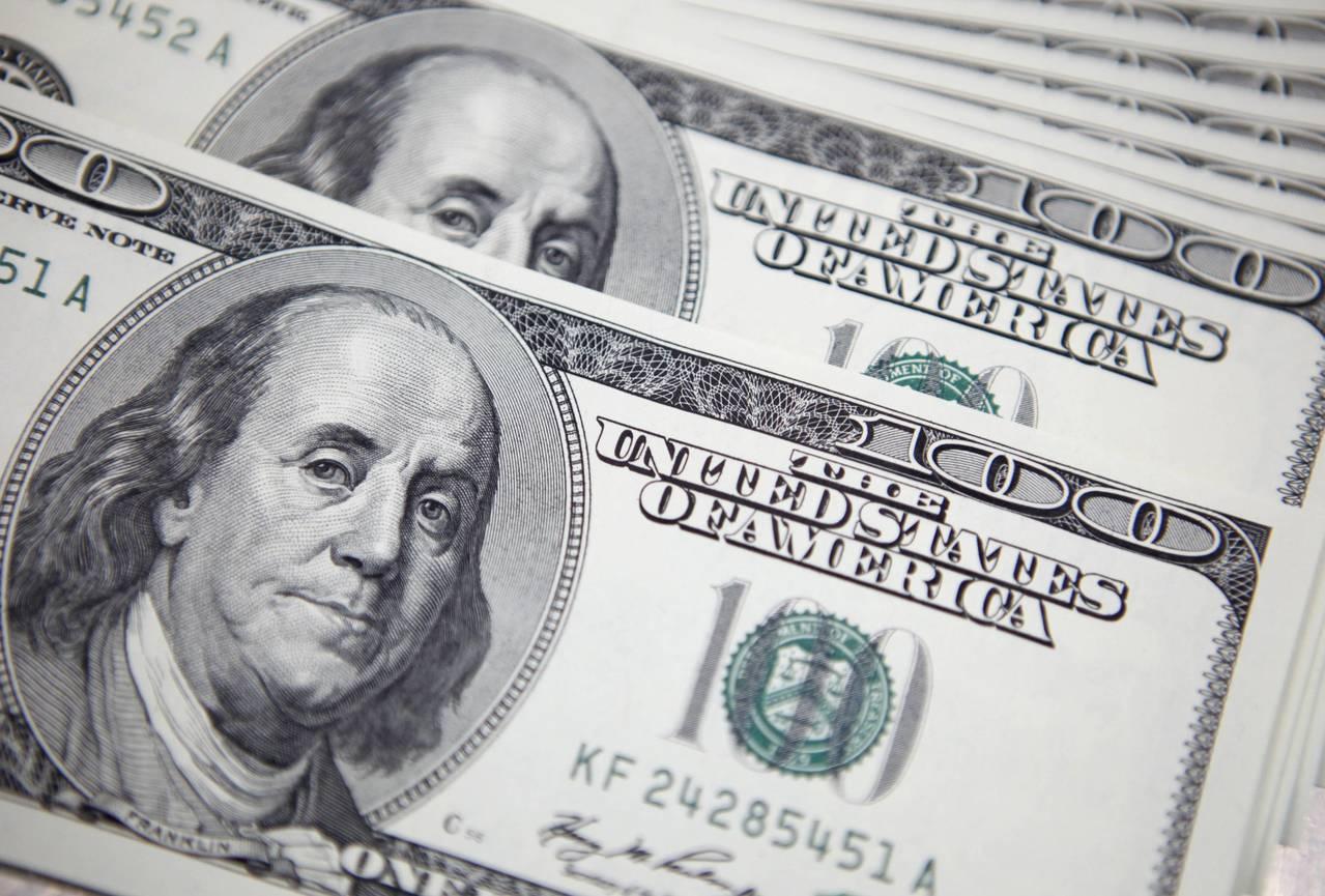 美元指數28日下跌。(圖/路透)