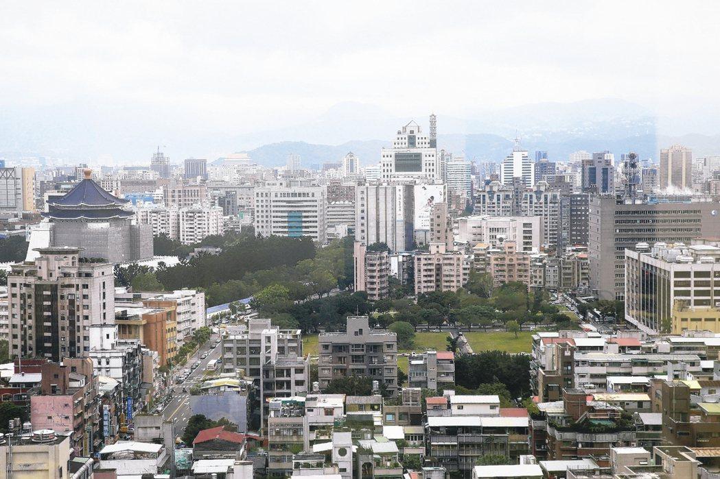 北市中正區享有都更題材,公寓房價相對抗跌。 報系資料照