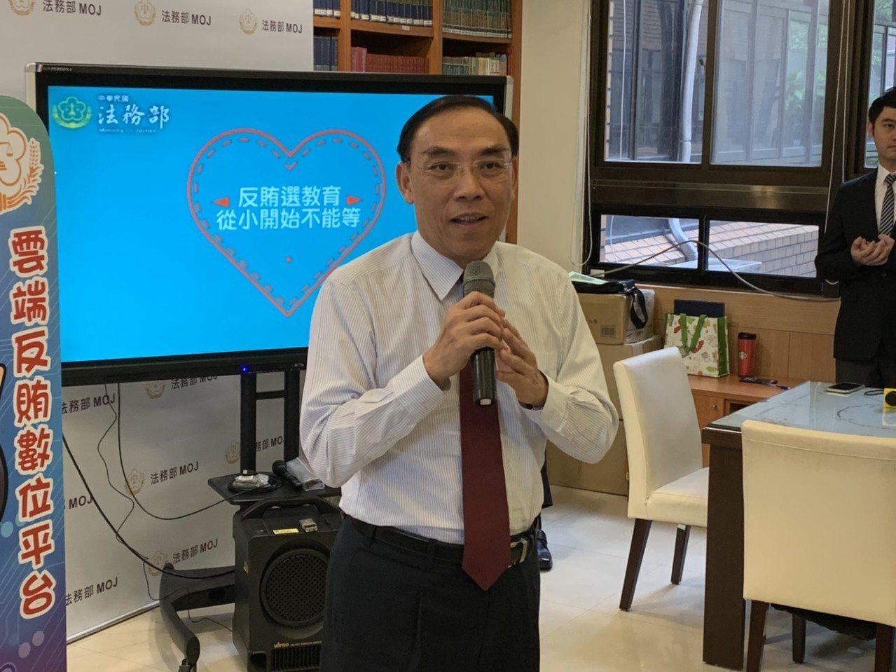 法务部长蔡清祥。记者王圣藜/摄影