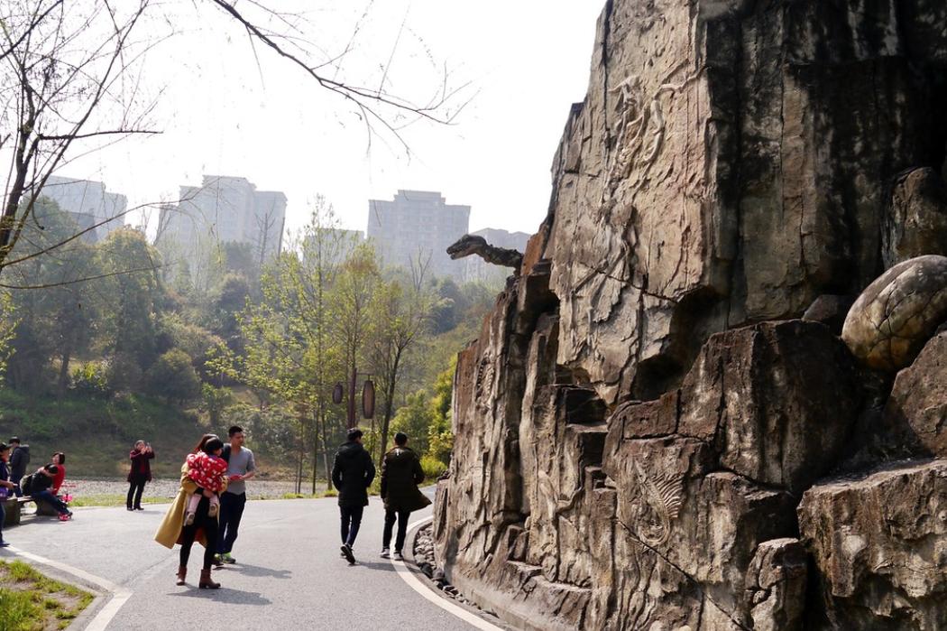 仿石器时代化石的墙面
