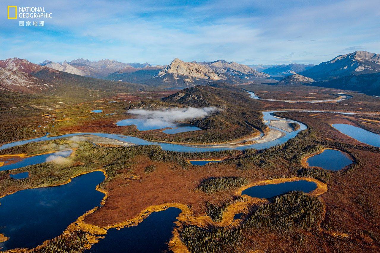 阿拉特纳河向南流出阿拉斯加的布鲁克斯岭,其河谷成为野生动物向北迁入暖化北极的廊道...