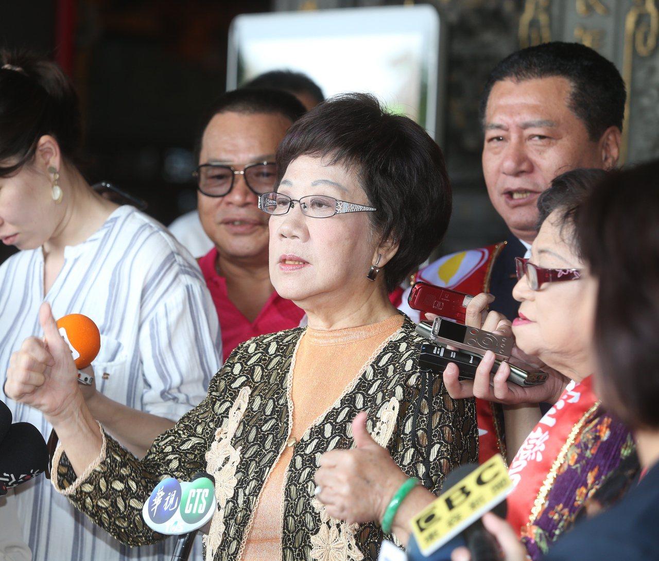 前副总统吕秀莲表态参选2020总统。联合报系资料照片/记者曾吉松摄影