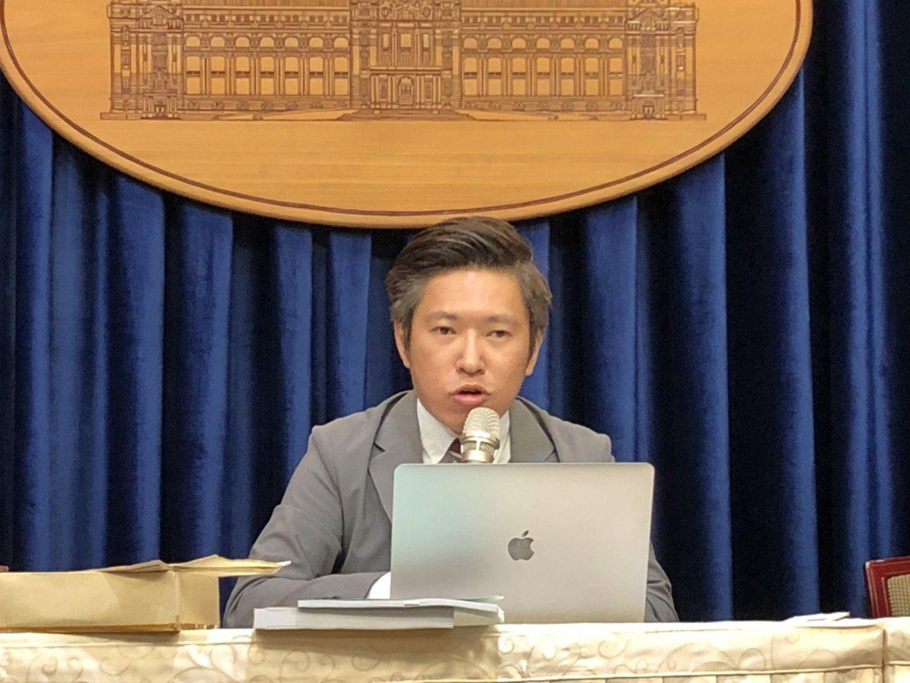 总统府发言人张惇涵。记者潘姣琪/摄影
