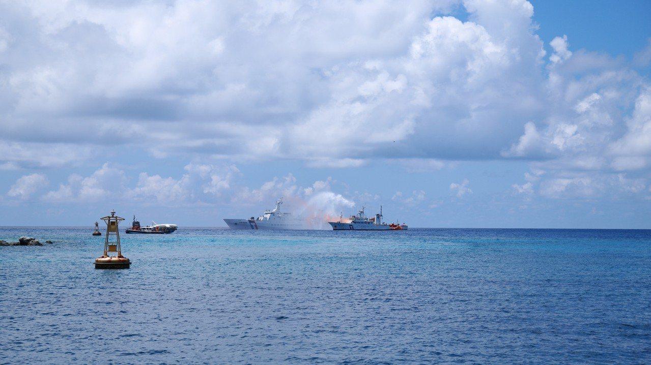 太平岛有石油,但韩国瑜说,他从没说高市府要在太平岛挖石油。记者廖炳棋/翻摄