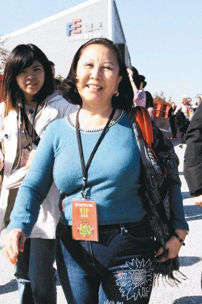 孙科和蓝妮的女儿孙穗芬(前立者),2011年来台参观花博发生车祸身亡。 图/联合...