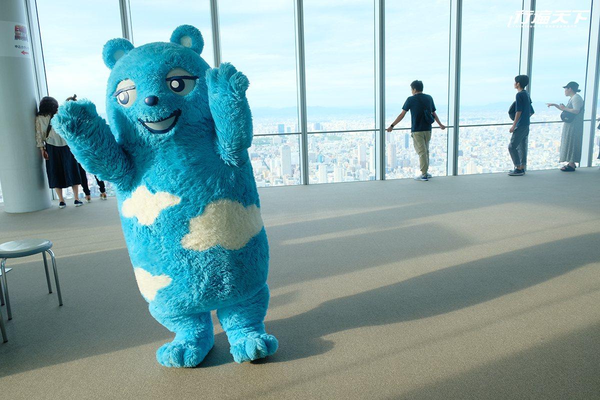 ▲不定时出没的阿倍野熊,一出现就会受到全场欢迎。