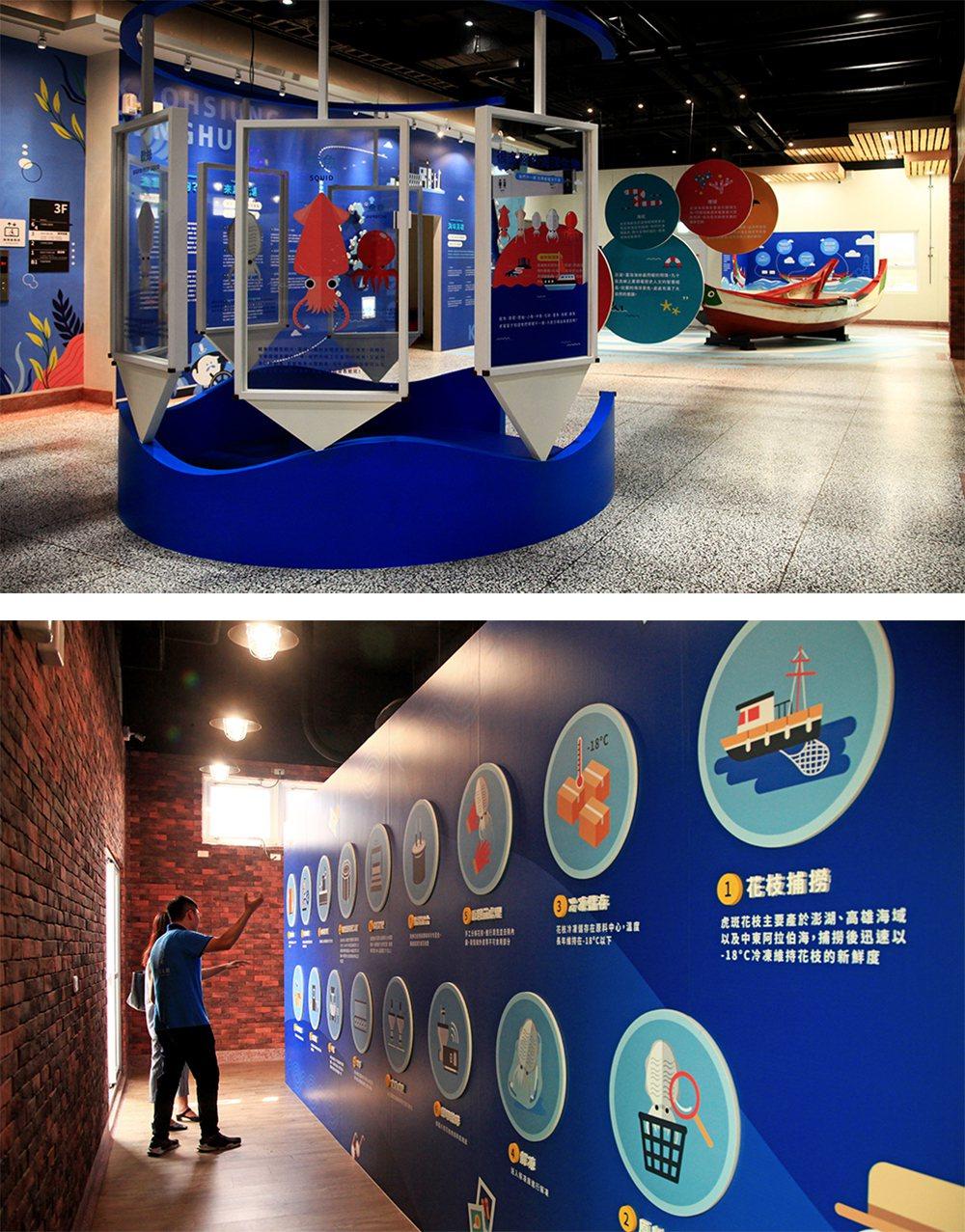 位于3楼的观光工厂透过精致规划让游客了解许多海洋生态的知识。 (摄影/曾信耀)