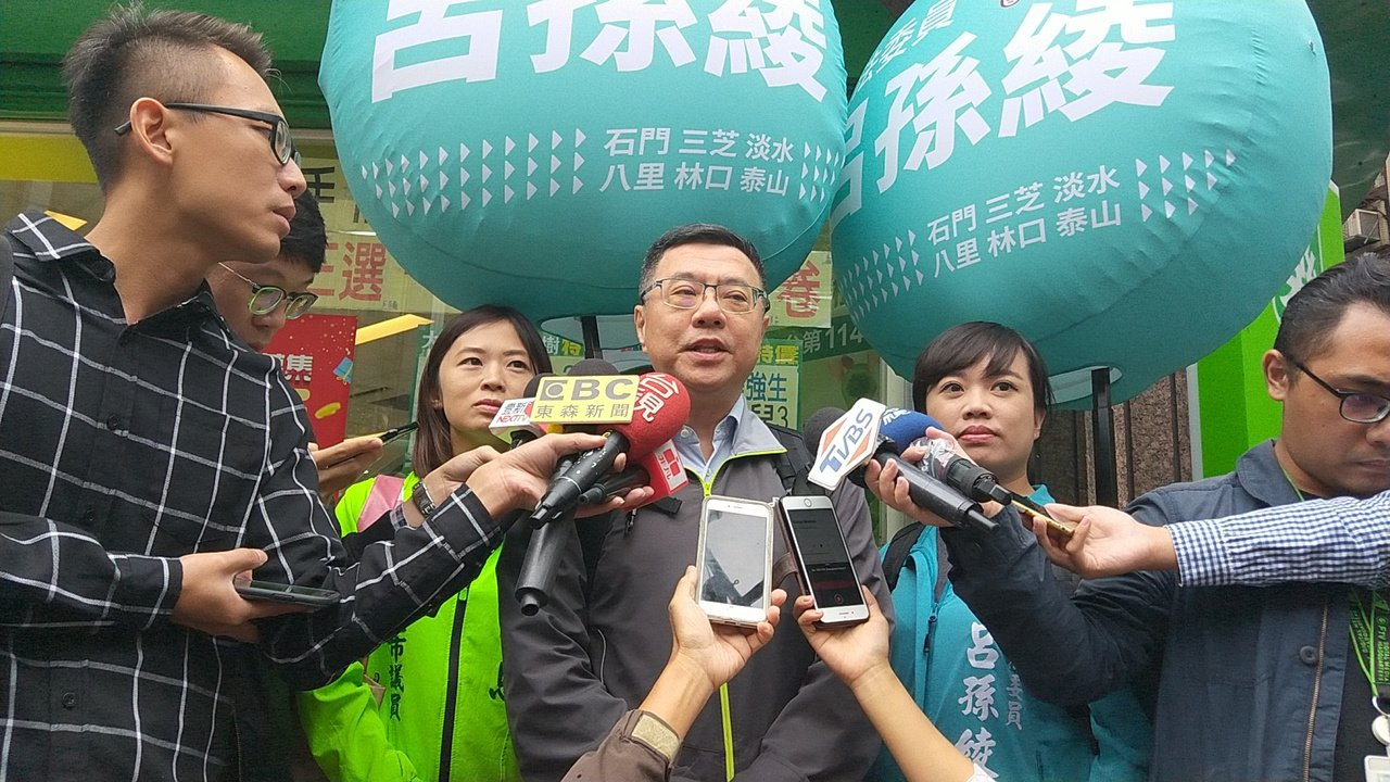 民进党主席卓荣泰表示党中央不受任何威胁。记者施鸿基/摄影