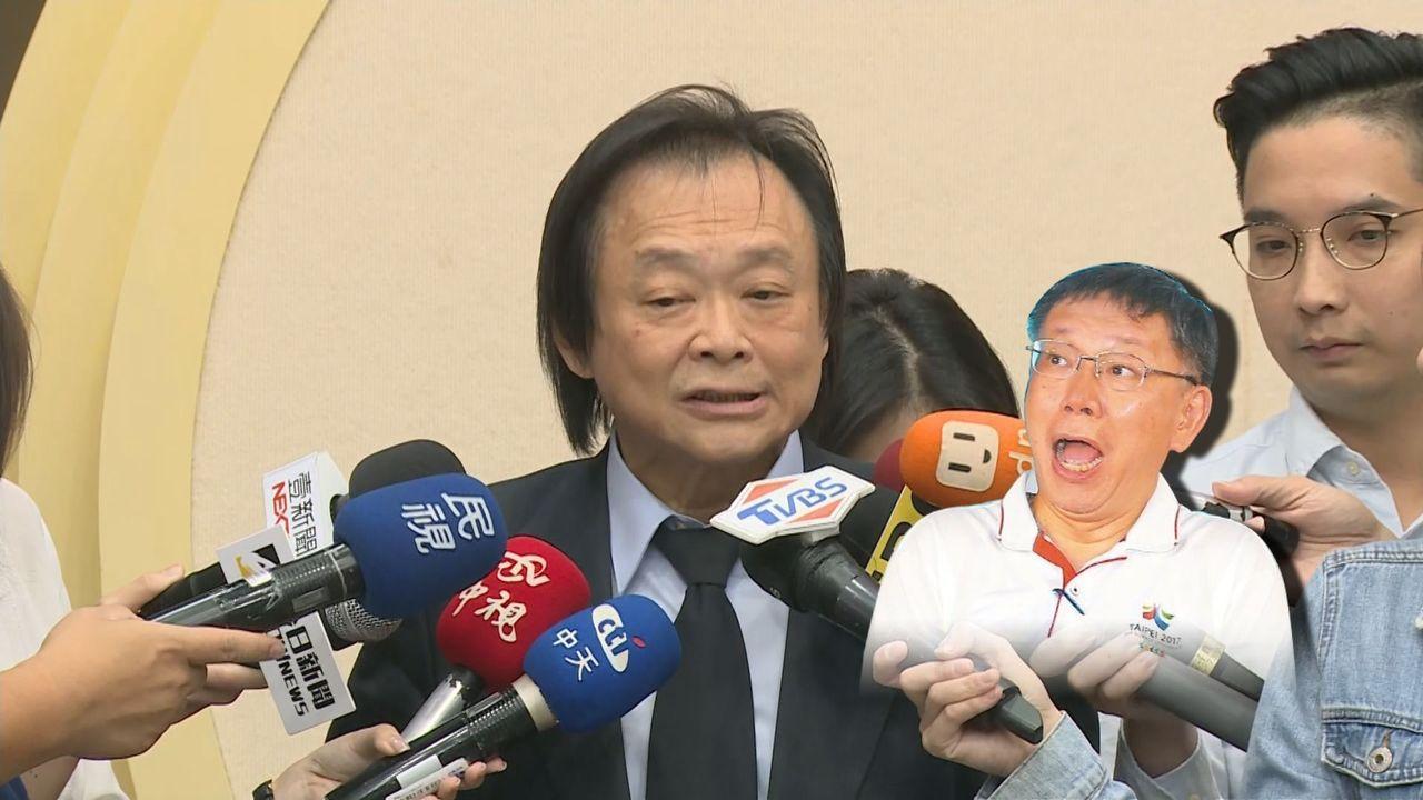 民进党台北市议员王世坚下午受访批评柯文哲自焚说,认为应请松德医院的院长来帮柯文哲...