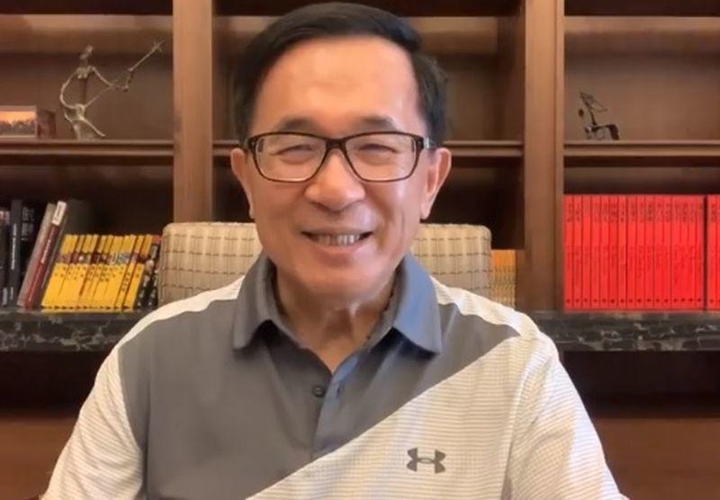 前总统陈水扁今天在脸书谈民进党派系。图/翻摄陈水扁脸书