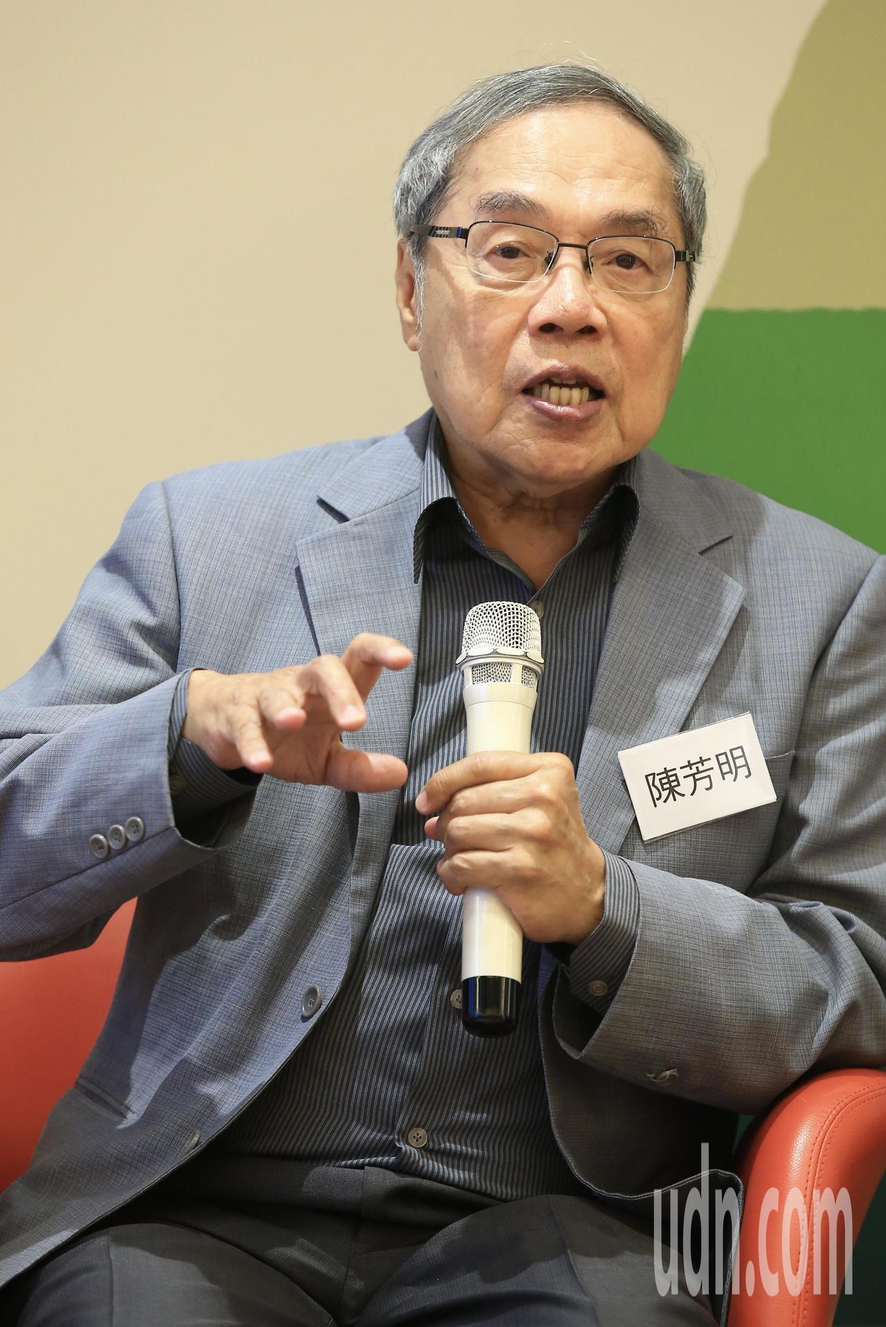 政治大学台文研究所课座教授陈芳明。本报资料照片