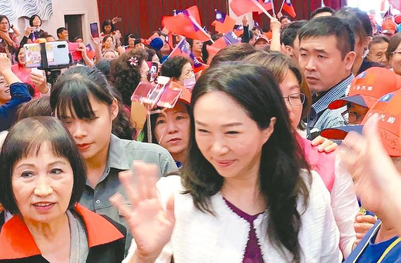 韩国瑜妻子李佳芬。本报资料照片