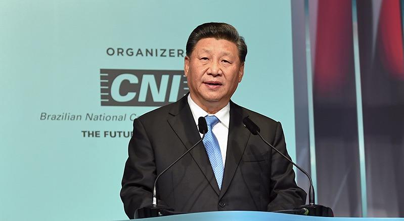 大陆国家主席习近平昨天强调,止暴制乱、恢复秩序是香港当前最紧迫的任务。 图/取自央视网