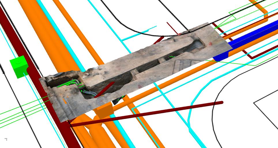高雄市为减少道路管线施工误挖,今年新建置3D公共管线图资系统,以3D信息分析与施...