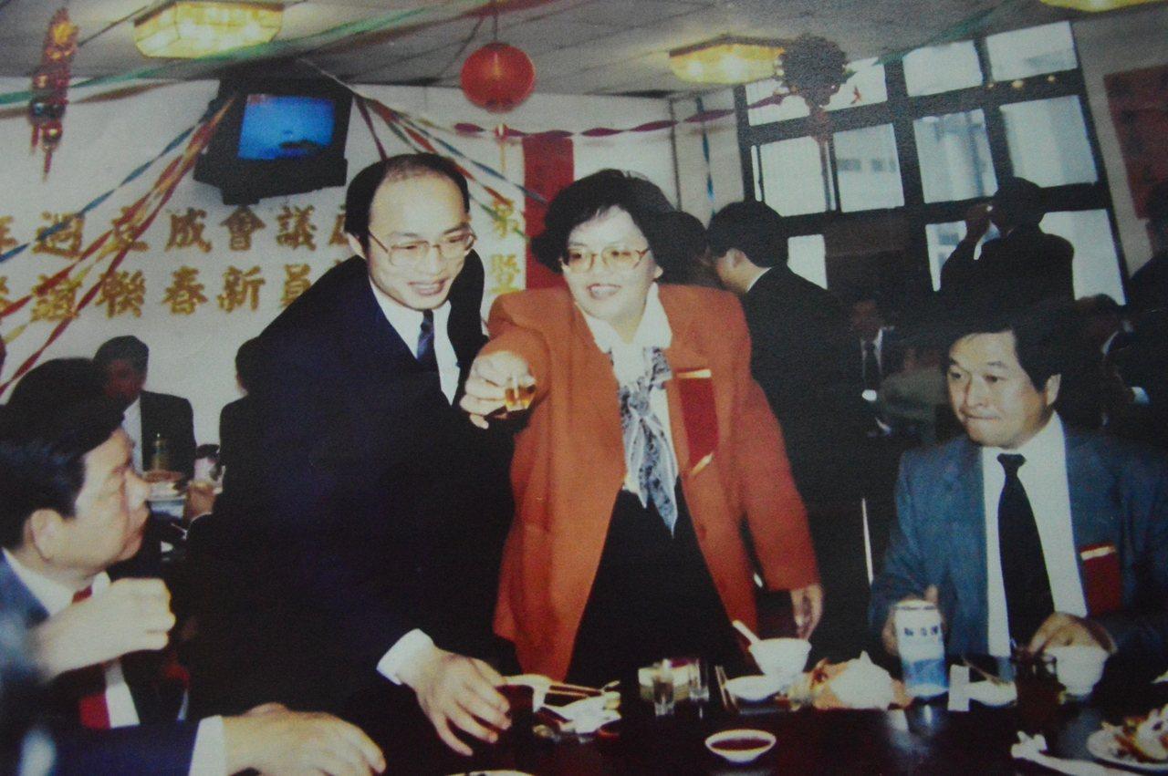 国民党总统参选人韩国瑜30年前相片。记者施鸿基/翻摄